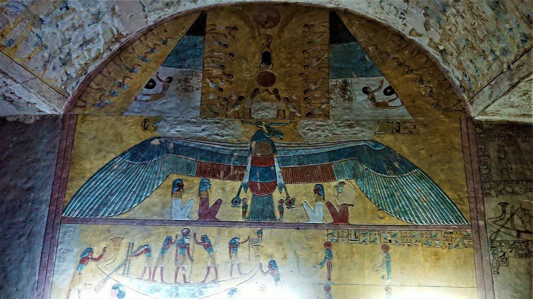 KV14公羊頭型鳥當成太陽神拉的靈魂
