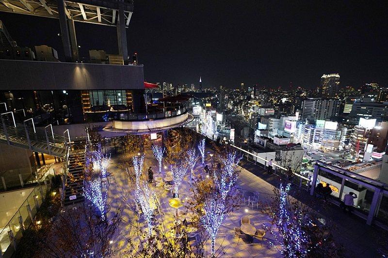 17樓的SHIBU NIWA,不論白天黑夜,都是優雅的休憩空間。