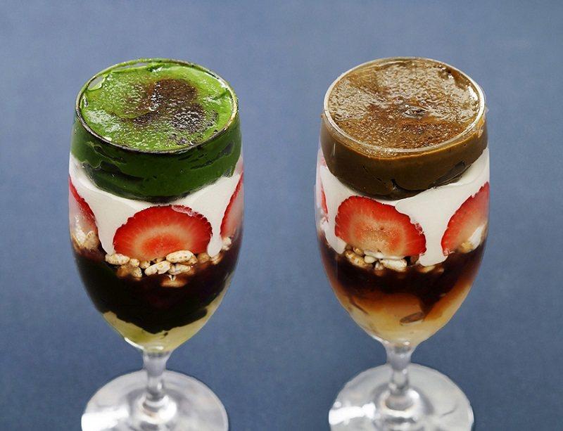 來自京都的「京都宇治 藤井茗縁」也進駐其中,提供宛如焦糖布蕾的創意宇治茶聖代。