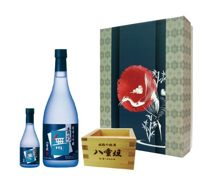 青乃無日本純米大吟釀禮盒,建議售價2320元。圖/橡木桶洋酒提供 【未成年...