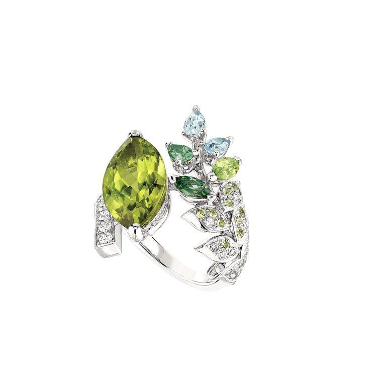 Chanel,Brins de Printemps戒指,18K白金鑲嵌1顆重5....