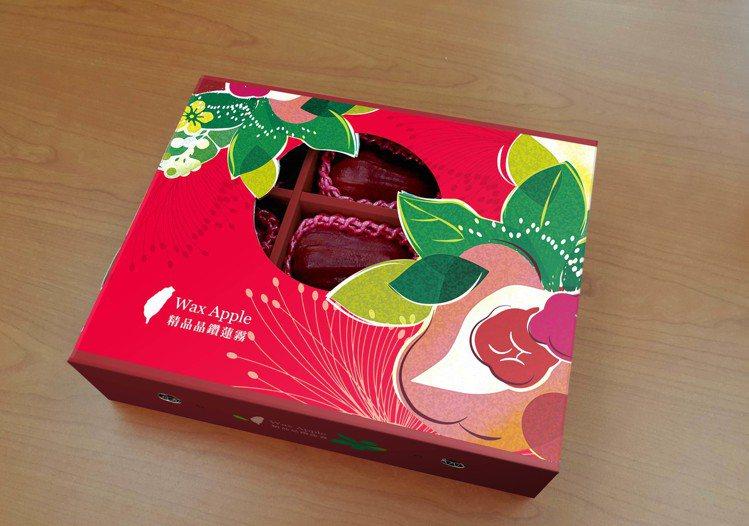 「珍選蓮霧禮盒」飽滿多汁,讓饕客趨之若鶩。圖/全聯提供。