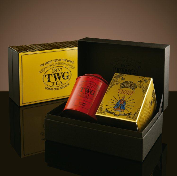 新品「茶香蠟燭禮盒組」自用送禮兩相宜。圖/TWG Tea提供
