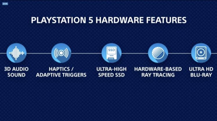 Sony在發表會上也再次強調了PlayStation 5的硬體規格重點。圖/發表...