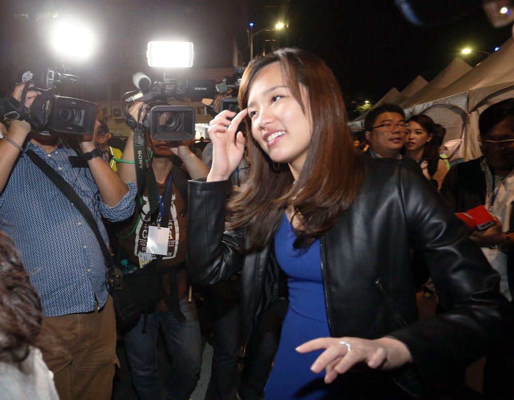 高雄市長韓國瑜的長女韓冰外型亮麗、舉止大方,受到媒體青睞。圖/聯合報系資料照片