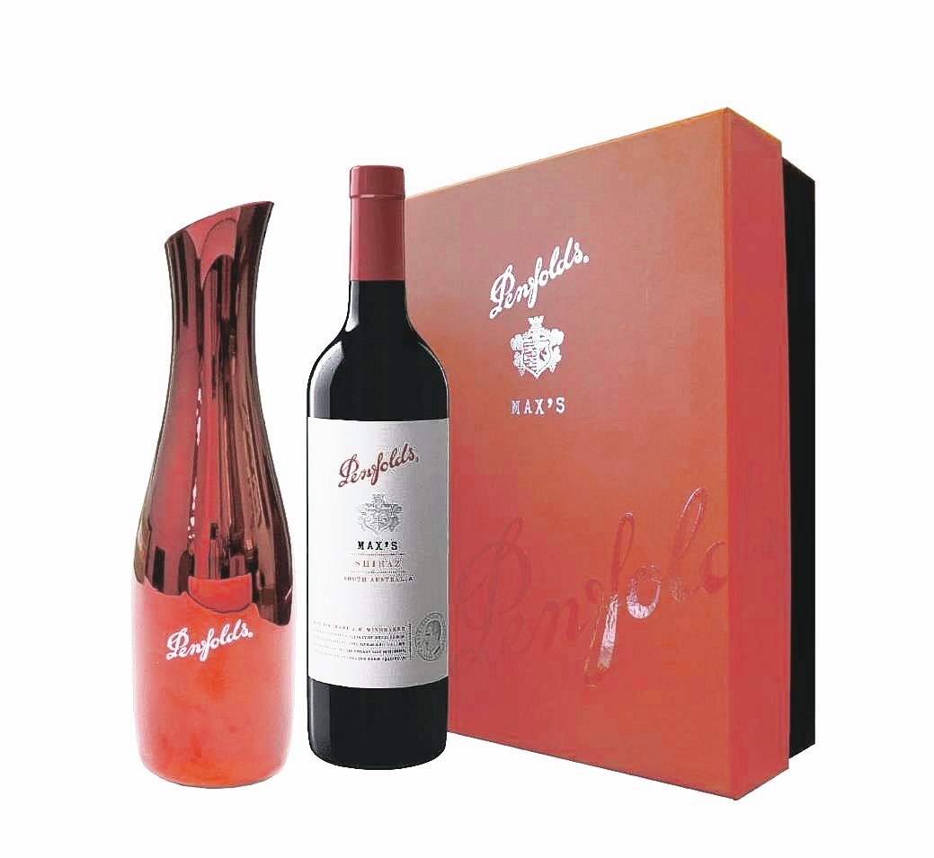 澳洲奔富大師系列施赫單入加醒酒壺禮盒,建議售價1,450元。 業者/提供