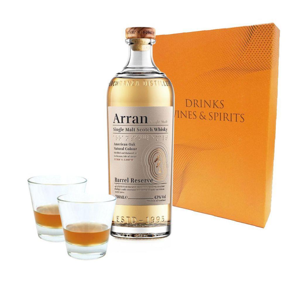 英國愛倫陳釀單一麥芽蘇格蘭威士忌禮盒建議售價1450。業者/提供