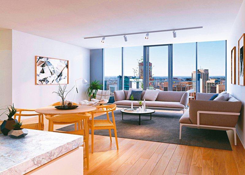 澳洲南澳省正在實驗一種結合區塊鏈技術的新型態房地產交易。 圖/取自Woods Bagot建築師事務所官網