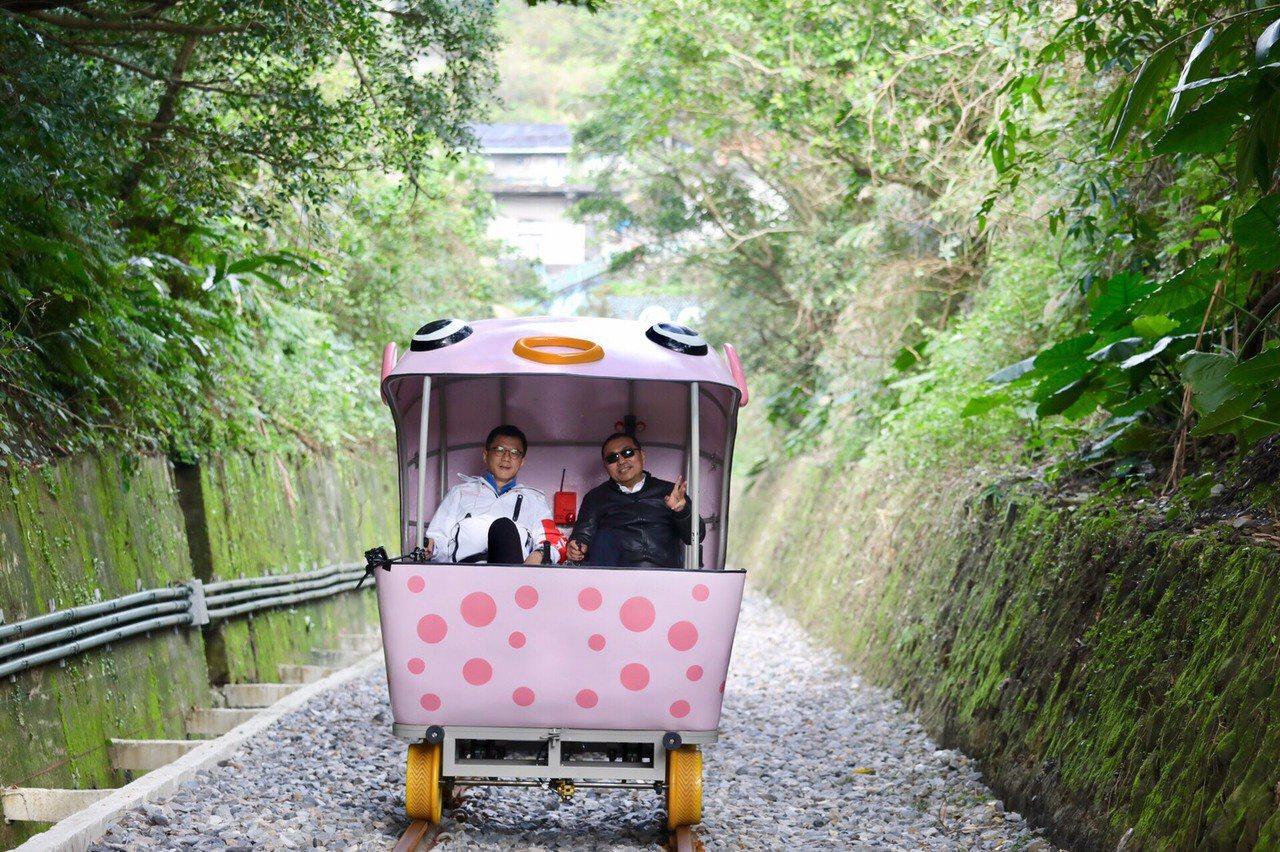 深澳鐵道自行車。圖/新北市政府提供