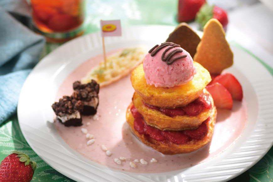 法式草莓疊疊樂。 圖/周禎和攝影