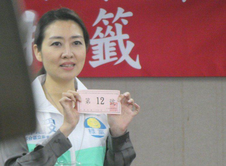 知名精神科美女醫師鄧惠文,是綠黨不分區排名第一。記者周志豪/攝影