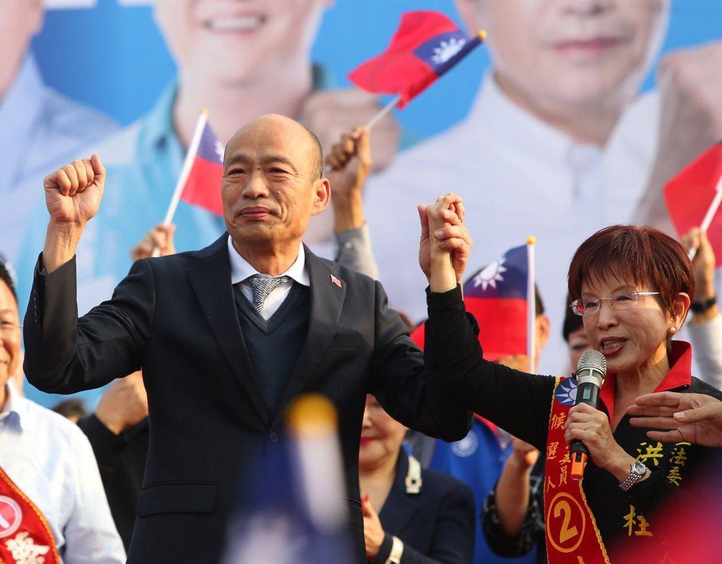 國民黨總統候選人韓國瑜。 本報資料照片