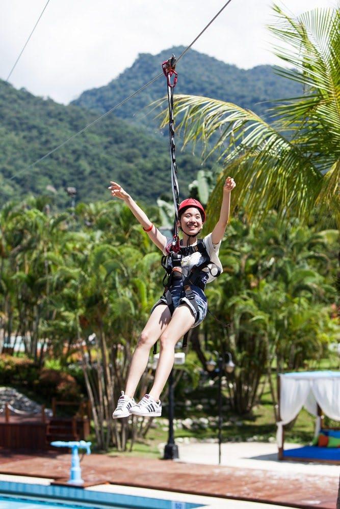 台南趣淘漫旅冒險設施「滑索」。圖/趣淘漫旅提供