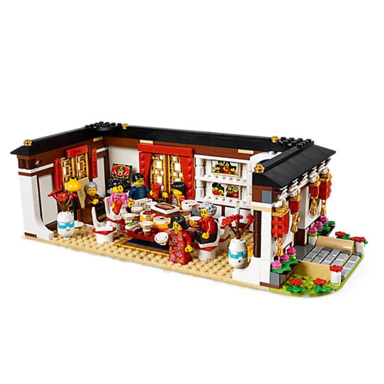 LEGO樂高「年夜飯」盒組,售價2,299元,樂高授權專賣店獨家補貨開賣。圖/喜...