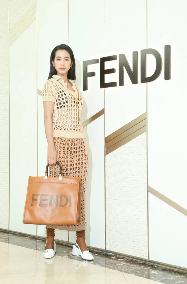 温貞菱展演FENDI春夏服飾。記者陳立凱/攝影