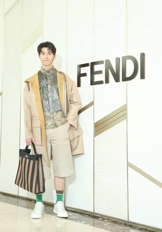 許光漢展演FENDI春夏服飾。記者陳立凱/攝影
