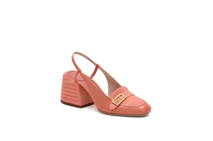 PROMENADE粉色跟鞋,28,900元。圖/FENDI提供
