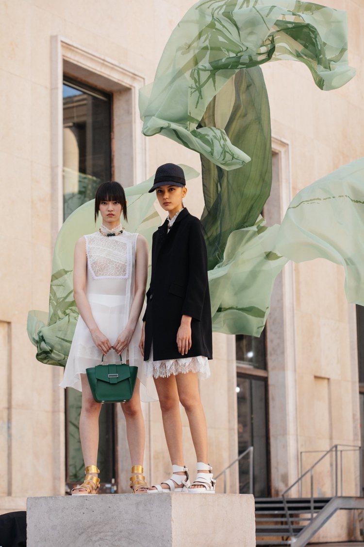曾在巴黎時尚周造成話題的帽飾造型,也是夏姿‧陳春夏系列的亮點之一。圖/SHIAT...