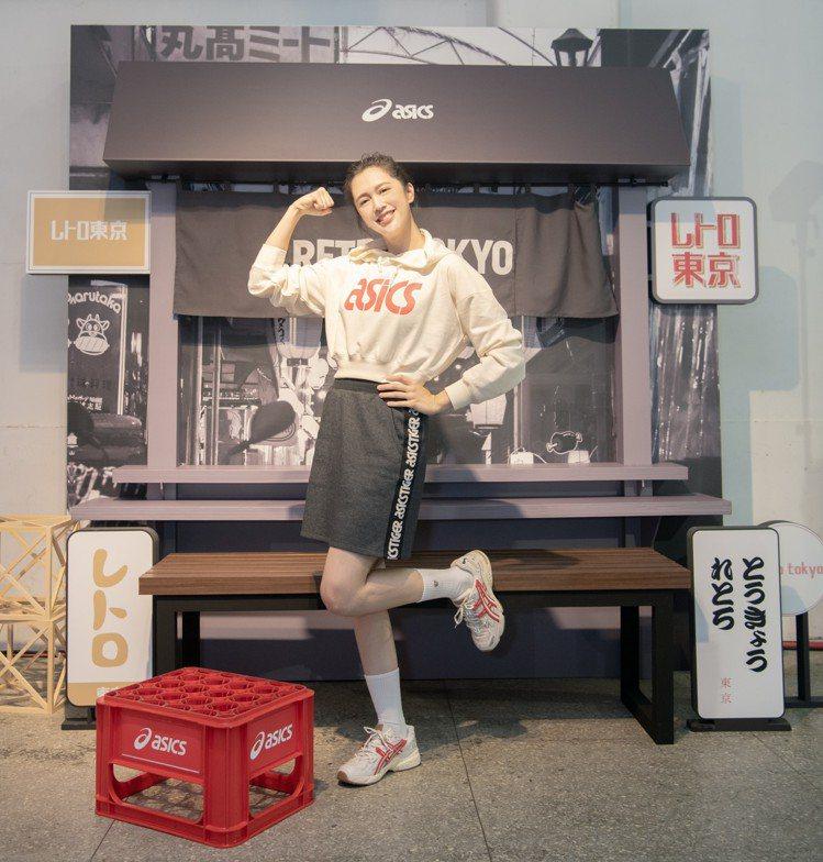 ASICS RETRO TOKYO 復刻東京系列應援大使劉奕兒。圖/ASICS提...