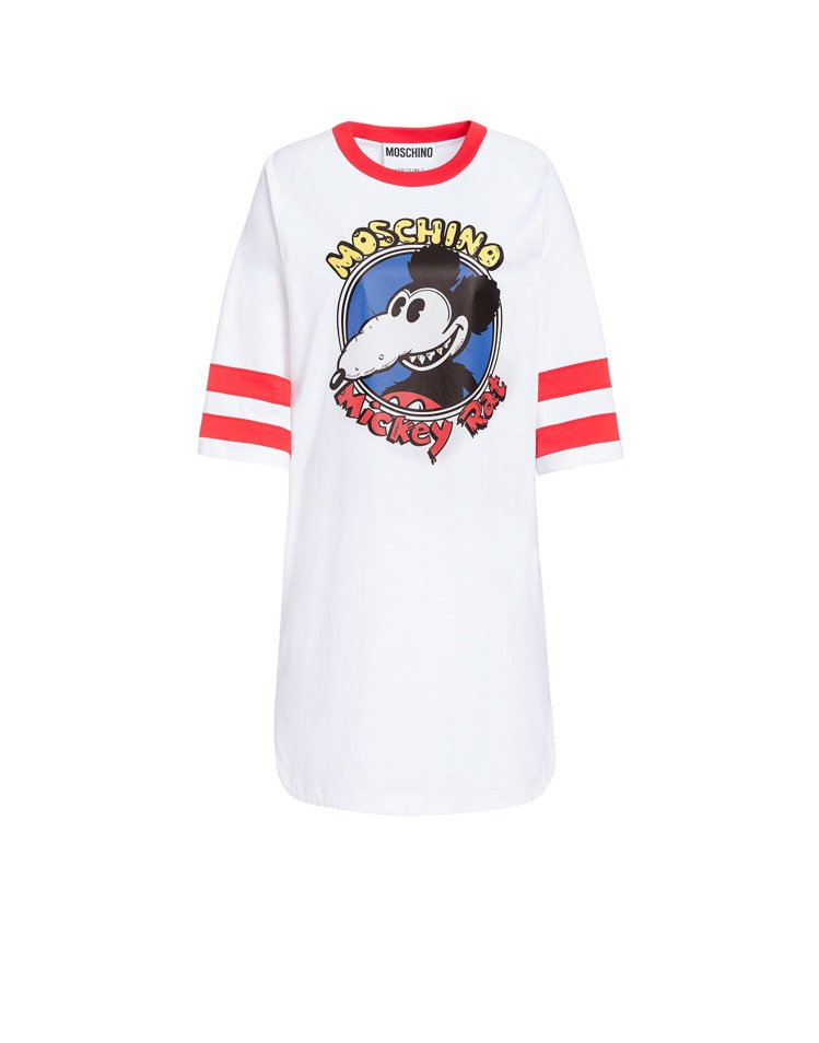 農曆新年Mickey Rat限量膠囊系列長版洋裝,18,300元。圖/MOSCH...