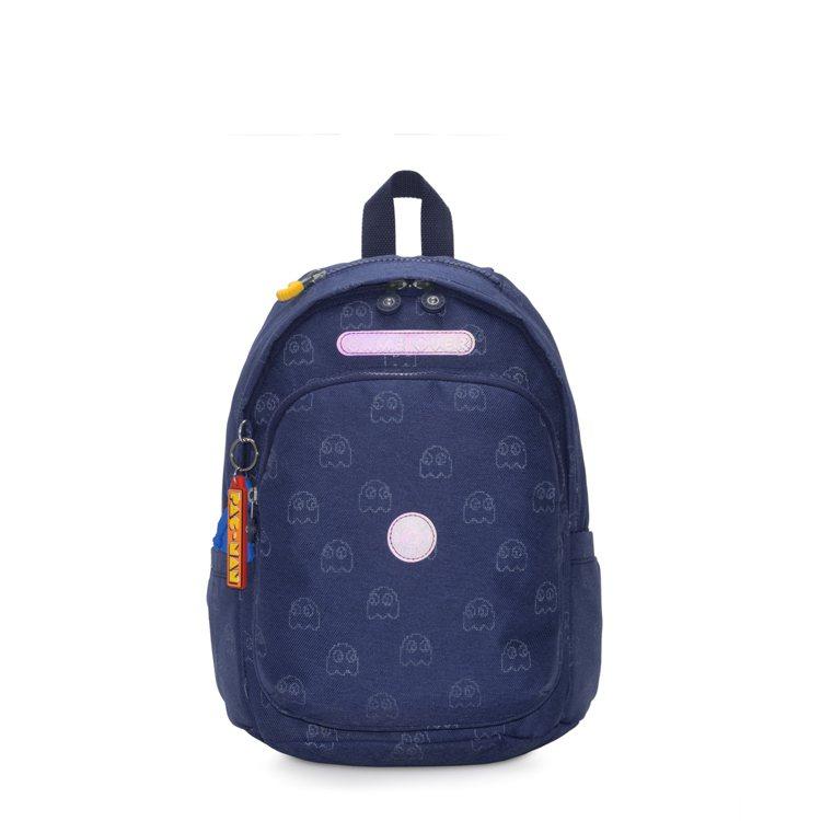 PAC-MAN限量系列上方拉鍊後背包5,180元。圖/Kipling提供