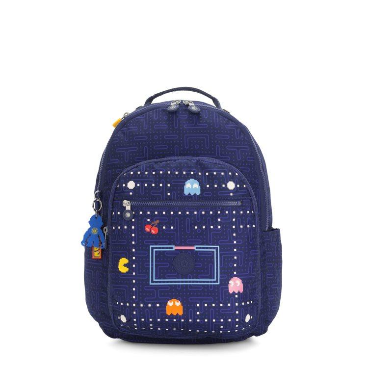PAC-MAN限量系列手提後背包4,580元。圖/Kipling提供