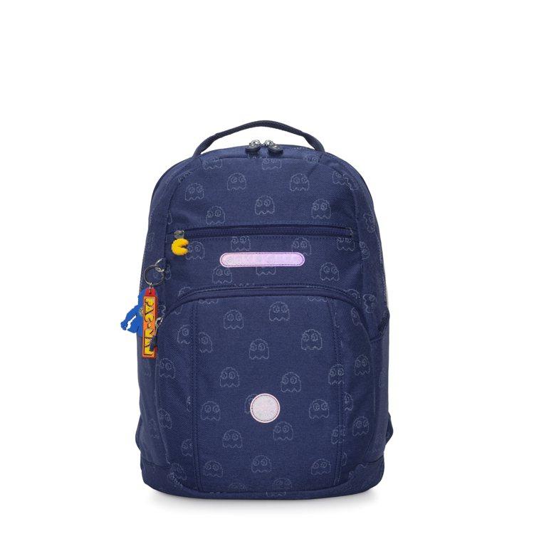 PAC-MAN限量系列雙層收納後背包6,380元。圖/Kipling提供