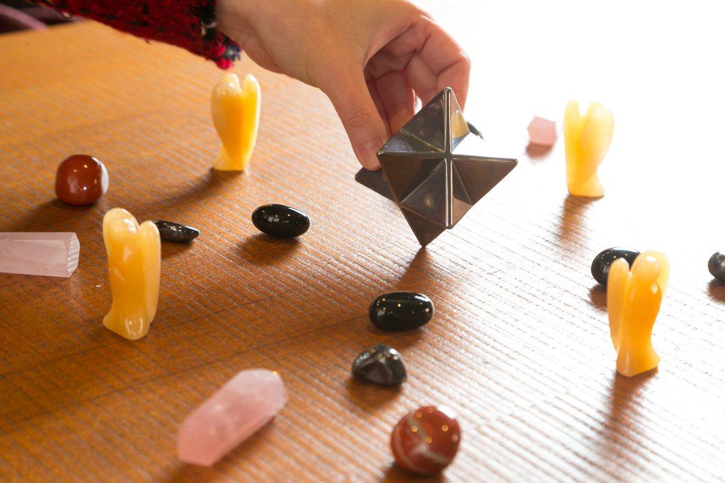 苗可麗水晶收藏。記者陳立凱/攝影