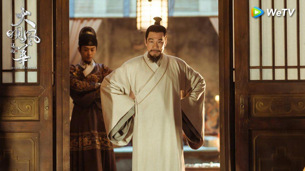 王學圻演活集冷峻與柔情於一身的帝王明成祖。圖/WeTV提供