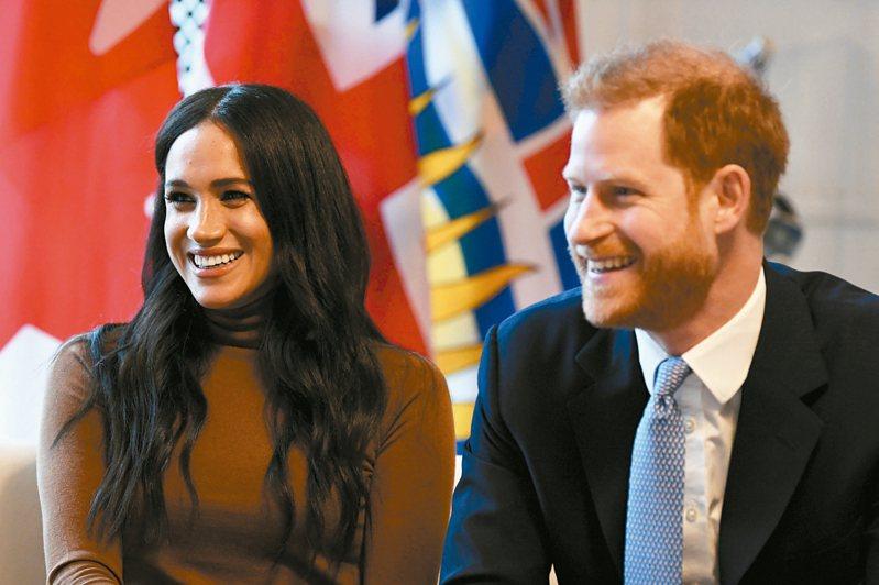 英國王子哈利與妻子梅根宣布將退至皇室幕後。 路透