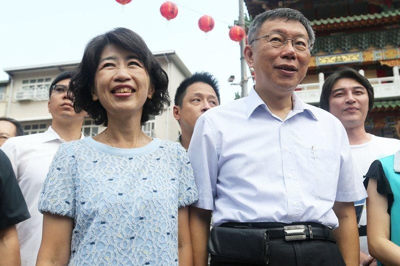 圖為柯文哲與太太陳佩琪。我們可以看到陳佩琪如何鞏固他與其他女人不同,反覆塑造他對丈夫的愛。 圖/聯合報系資料照