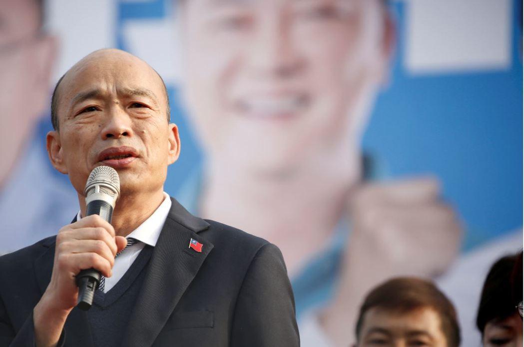 韓國瑜發言人王淺秋接受《海峽時報》採訪表示,韓國瑜完全支持香港的民主自由。   圖/路透社