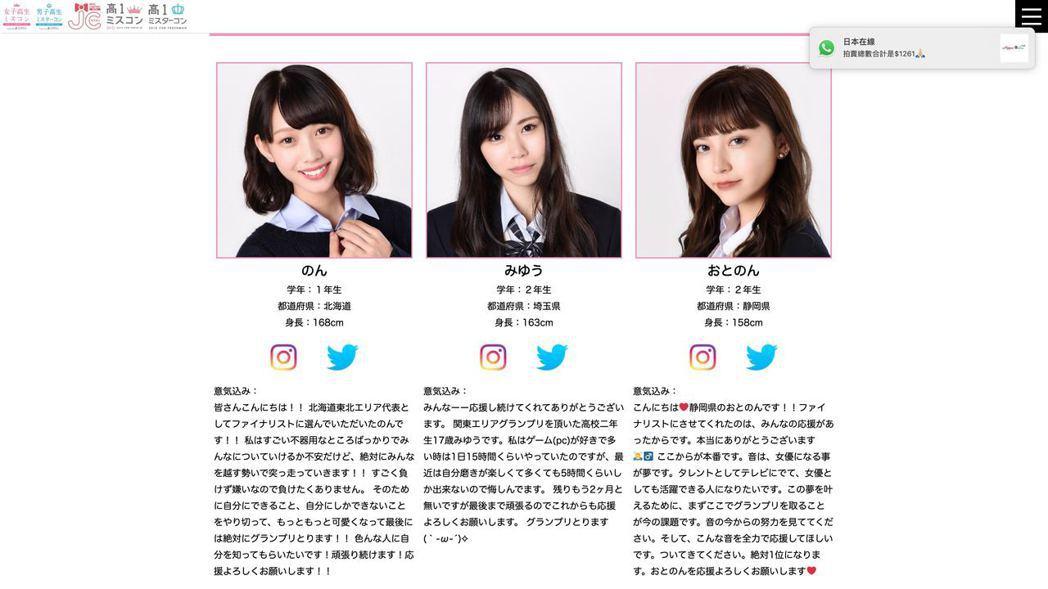 圖中正中間的就是Miyu參加Miss JK Contest 日本女子高生選舉 2...