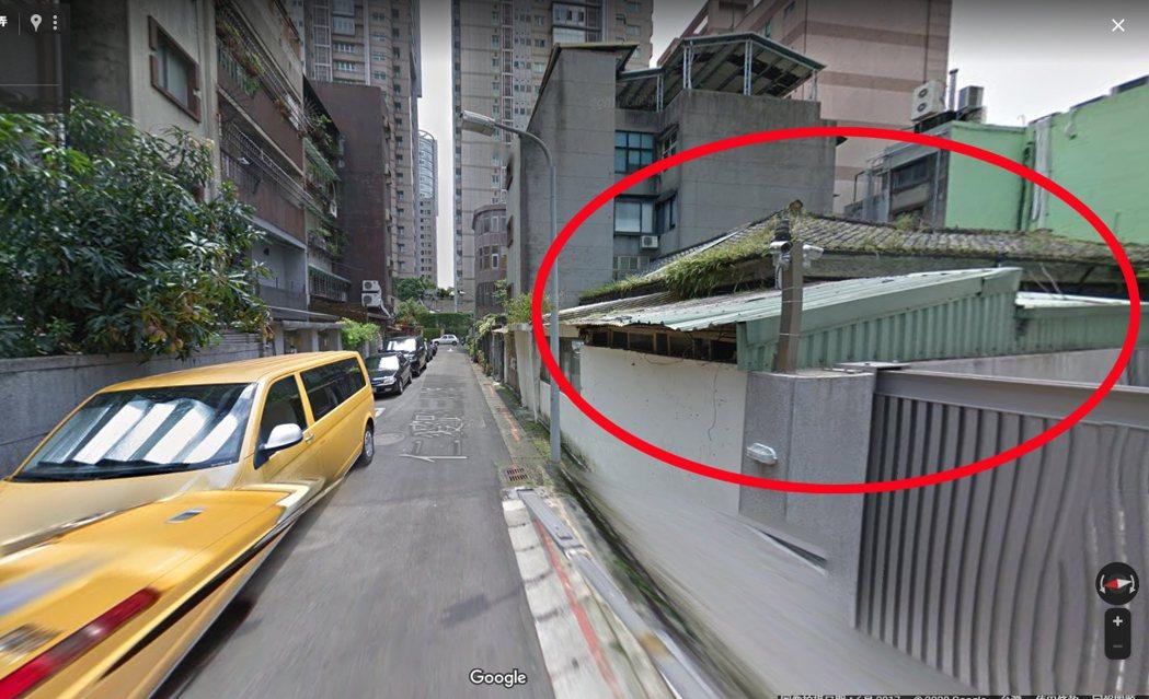 台北市仁愛路上這間平房,去年以1.63億元成交,讓人咋舌。 圖/Google m...