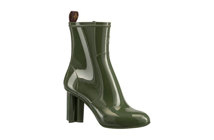 Rain系列Silhouette軍綠色短靴,售價29,500元。圖/LV提供