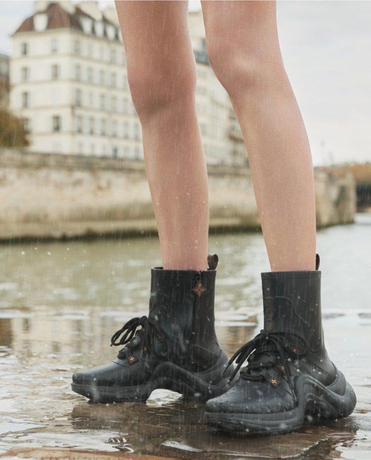 黑色款LV Archlight sneaker boots為基本款。圖/LV提供