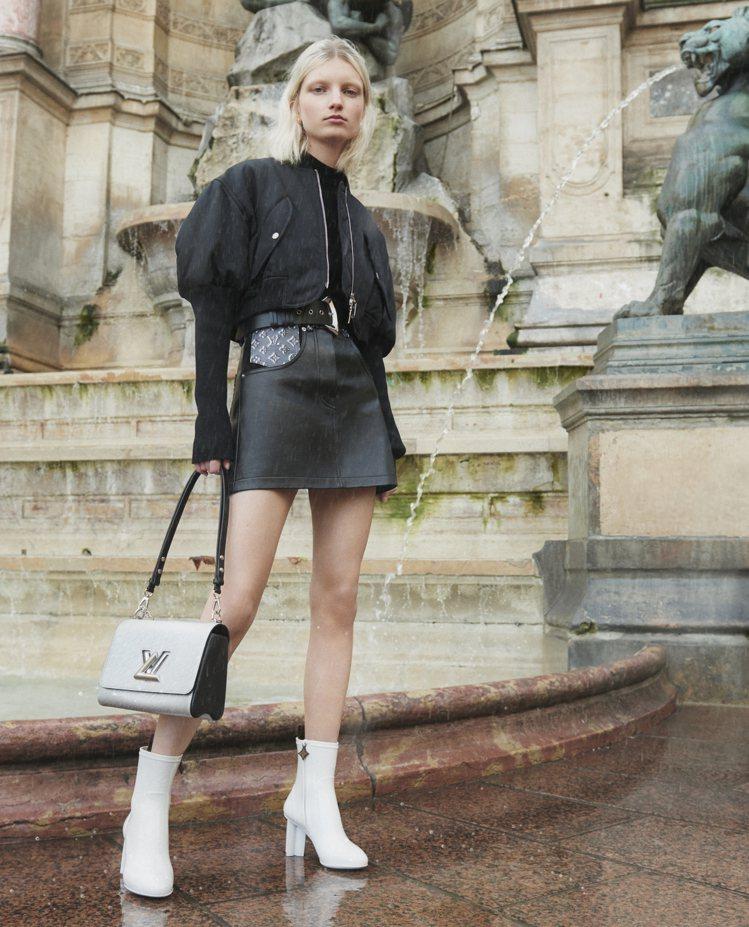 Silhouette短靴有白色款俏麗甜美又搶眼。圖/LV提供