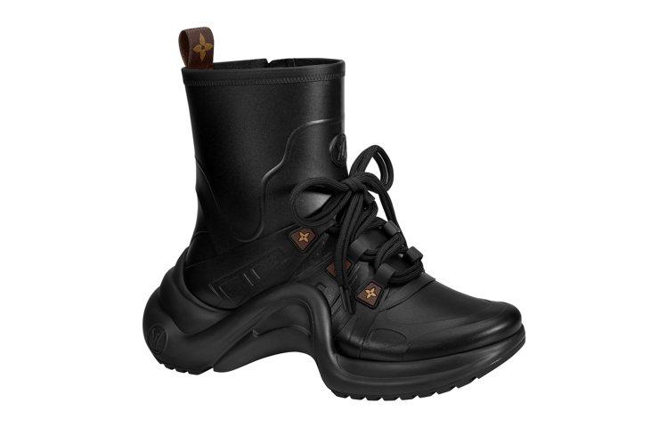黑色款LV Archlight sneaker boots。圖/LV提供