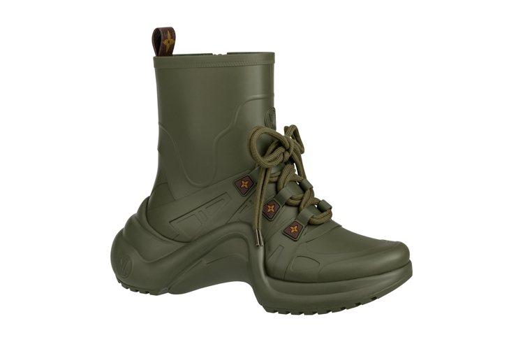 Rain系列LV Archlight軍綠色sneaker boots,售價31,...