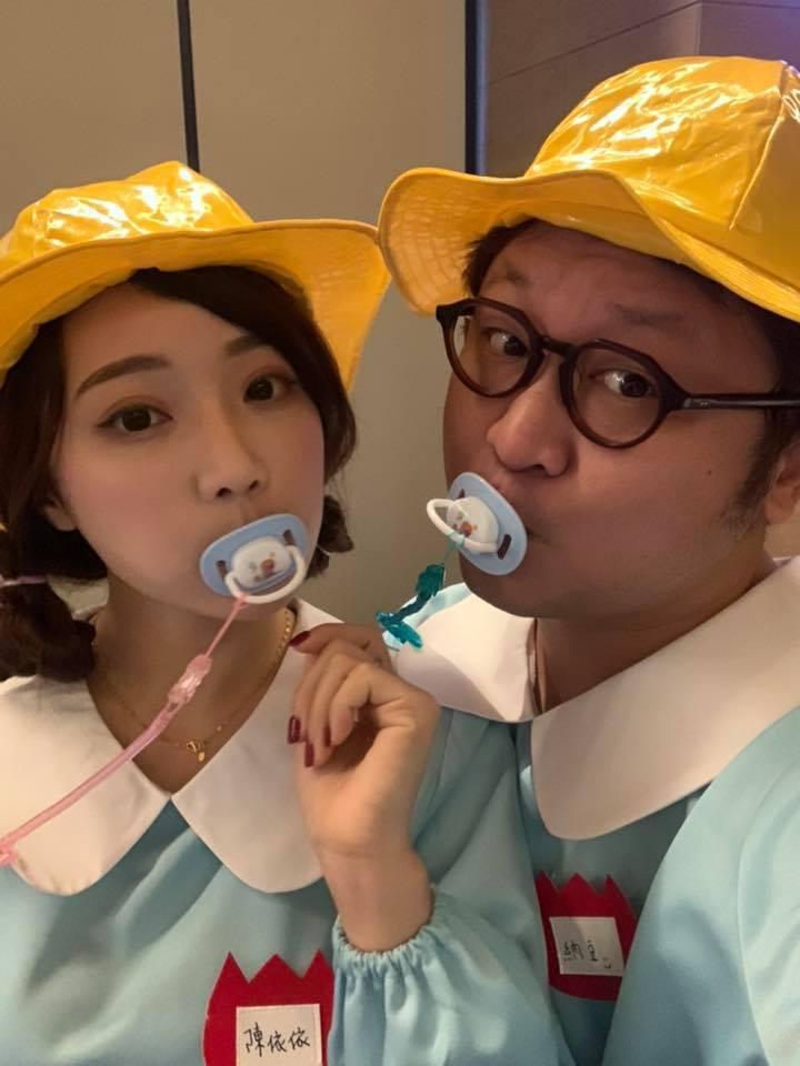 納豆(右)和女友依依感情甜蜜。圖/納豆提供