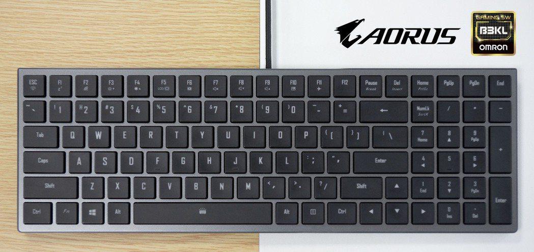 全新AORUS機械鍵盤採歐姆龍機械軸,日後將導入筆電產品中。 技嘉/提供
