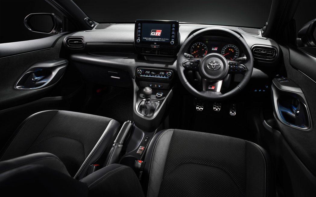 Toyota GR Yaris 內裝。 摘自Toyota