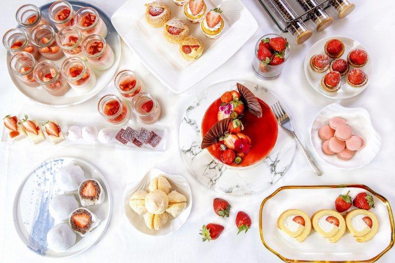 台北凱撒Checkers草莓季華麗回歸,13種夢幻甜點吃到飽,最優惠66折。 台...