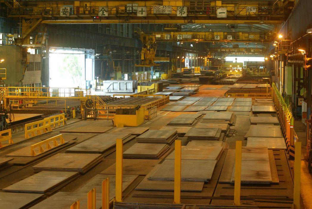 中鋼鋼廠。本報系資料照片