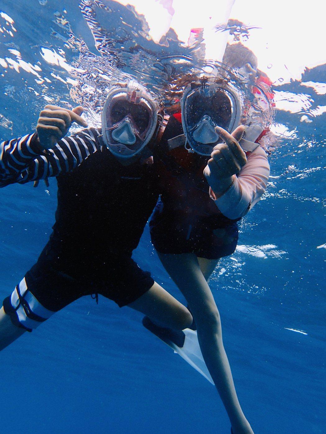 天心和老公到馬爾地夫度假。圖/福隆提供