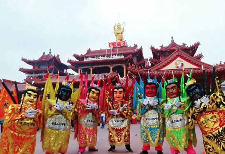 哪吒電音三太子代表台灣參加香港新春匯演。圖/港旅局提供