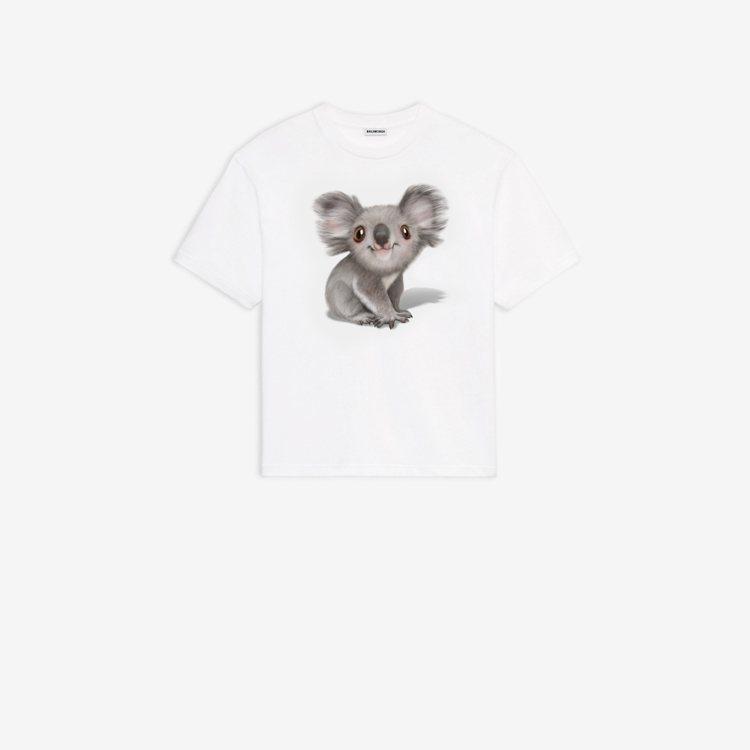 BALENCIAGA,澳洲無尾熊Logo義賣T恤,15,200元。圖╱BALEN...