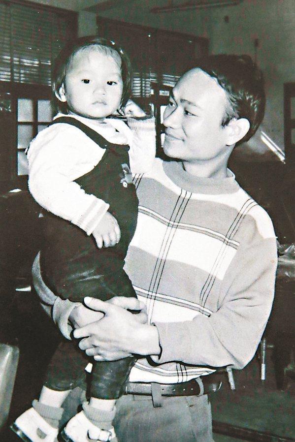 吳晟收藏許多老照片,圖為他與女兒吳音寧(左)。 圖/吳晟提供