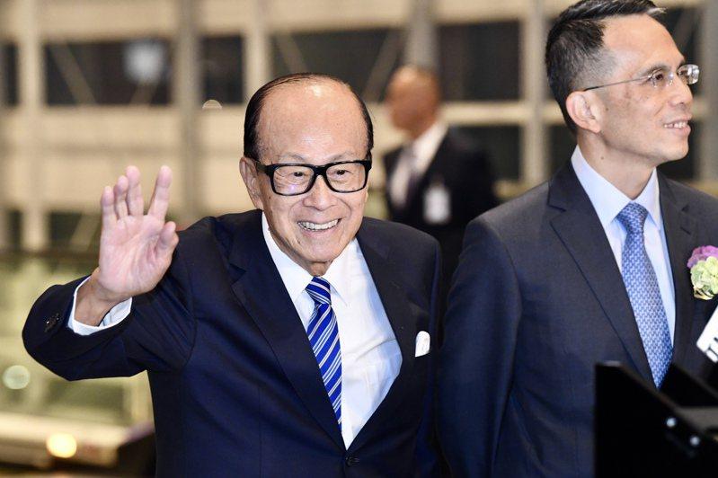 長和集團創辦人李嘉誠。 香港中國通訊社