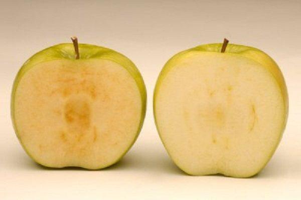蘋果切開易氧化變色。圖取自臉書
